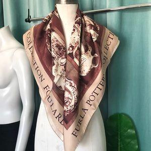 Furla pottery silk scarf